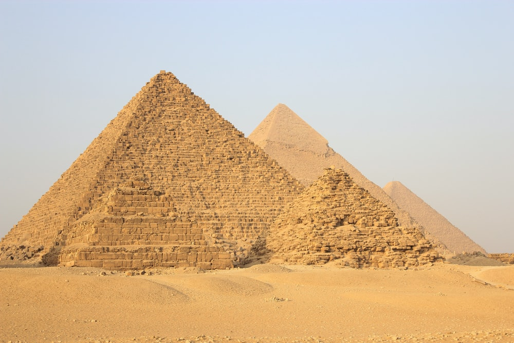 landscape photography of pyramid