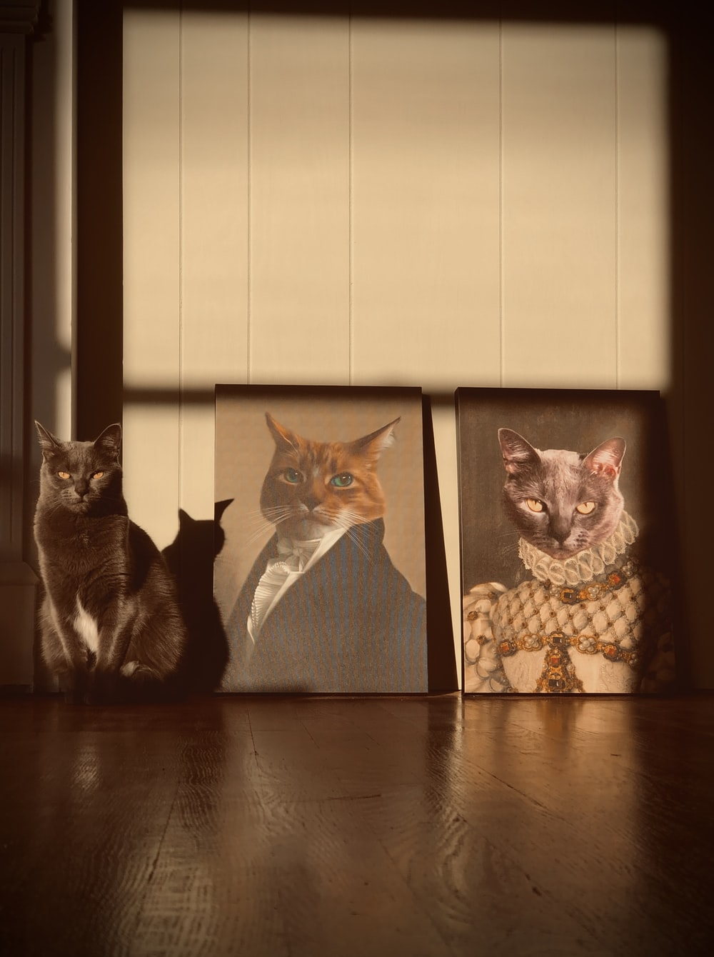 two brown cats wall decor