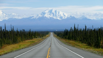 empty road alaska zoom background