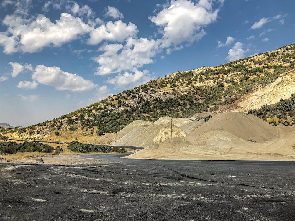 low angle photo of mountain