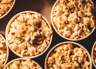 popcorn on bowls