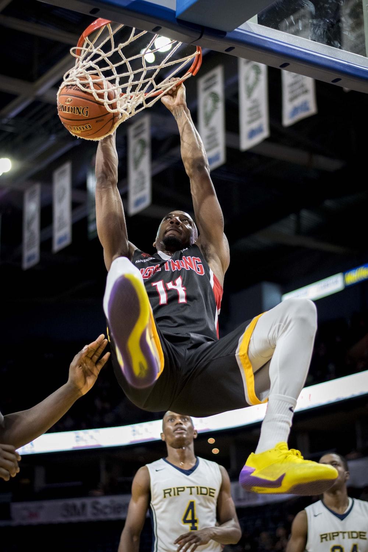 man dunking