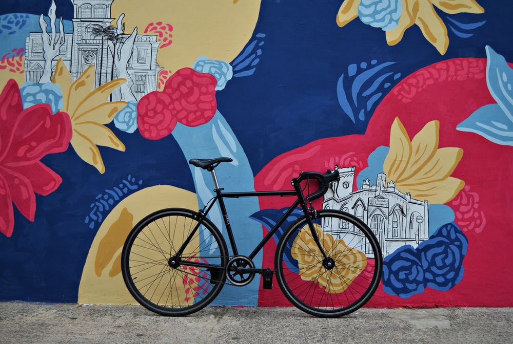 black road bike during daytime