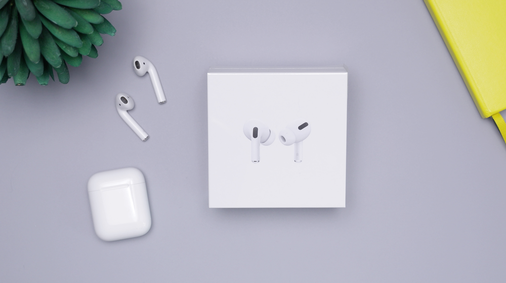 AirPods with box and charging case