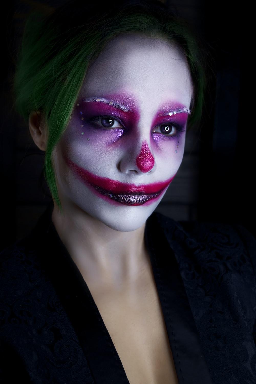 woman wearing halloween makeup