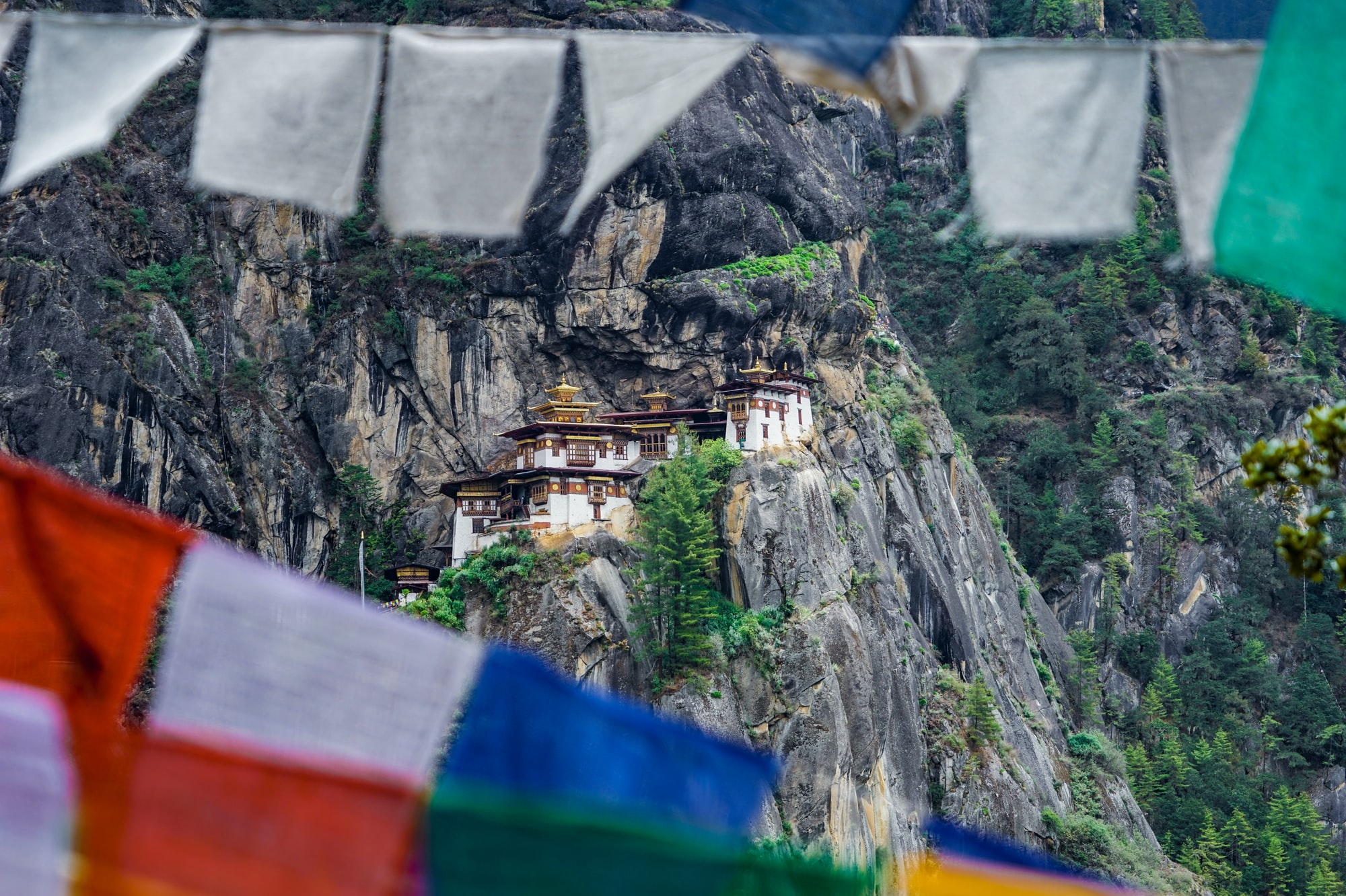Paro Taktsang is an ancient sacred Buddhist monastery built against the cliff side in Paro, Bhutan. It was first built in 1692. It is a popular pilgrimage sites among the Buddhists and a top tourist destination in Bhutan.