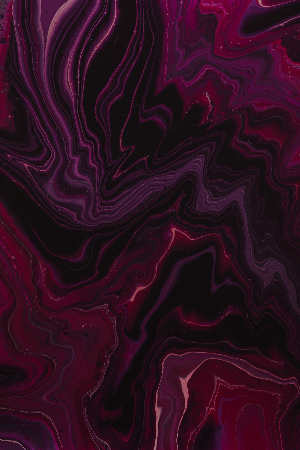 pink, purple, and black painting