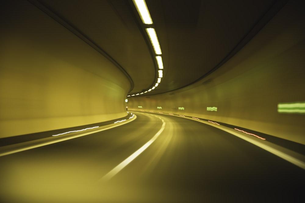 roadway in tunnel