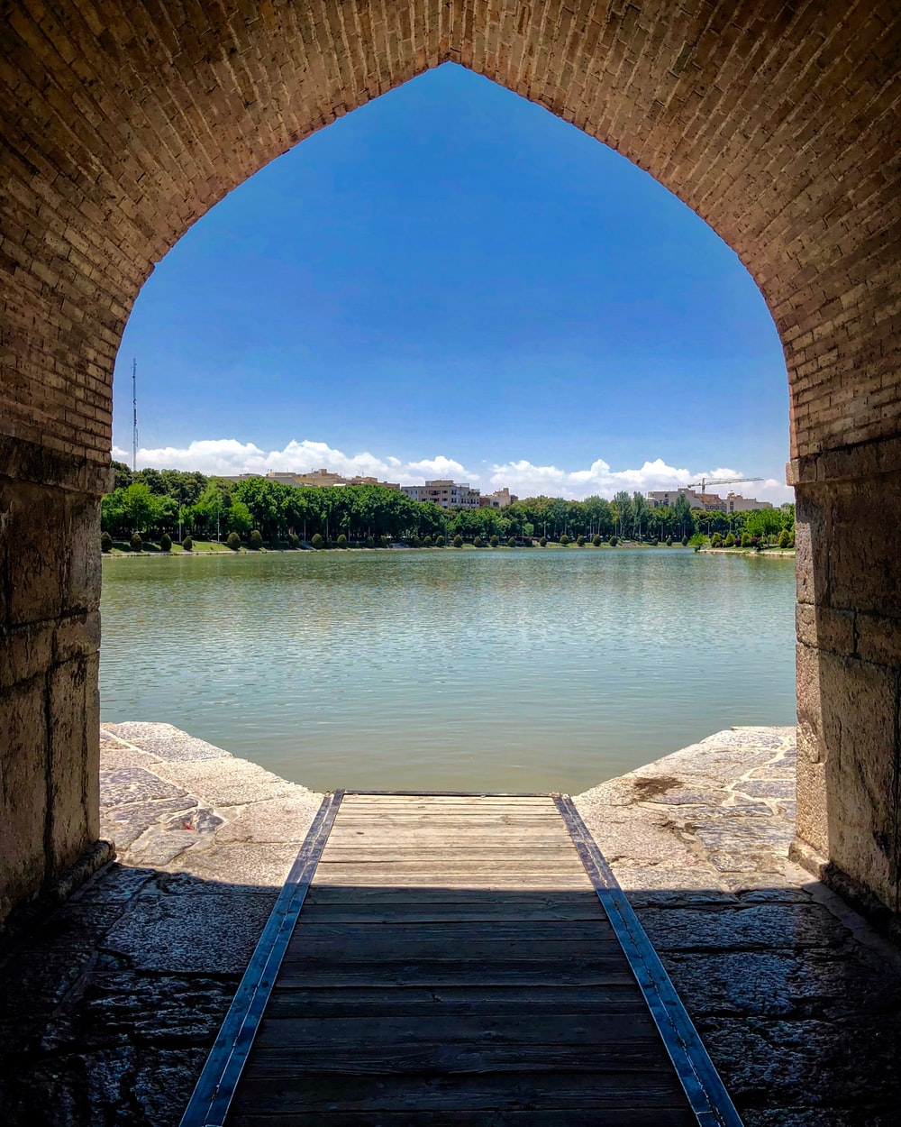 tunnel near body of water