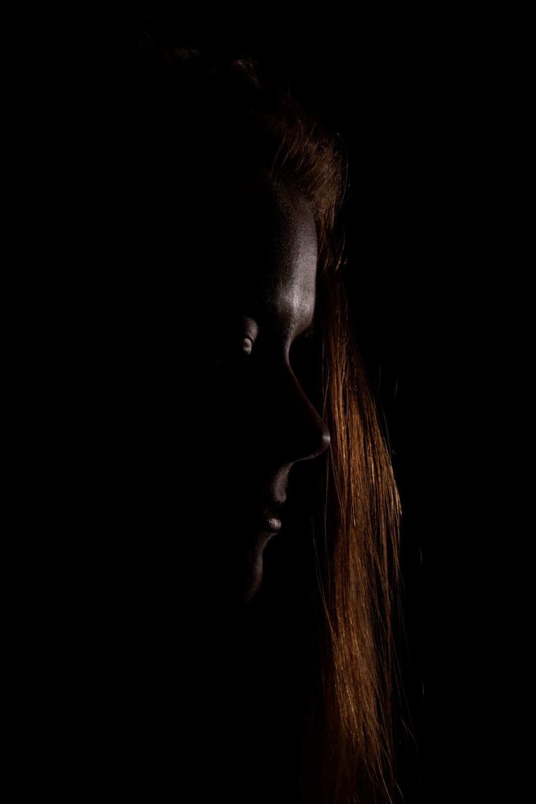 Dark studio photography.