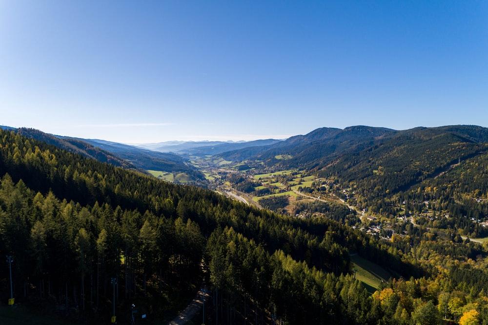 bird's eye view of mountain landscape