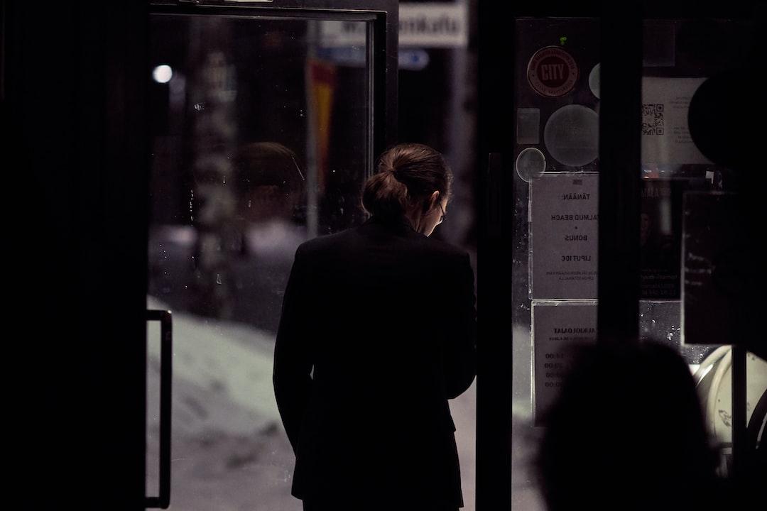 man leaves a venue