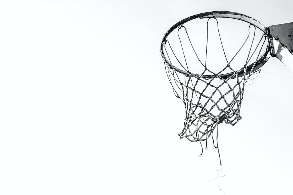 grey basketball hoop