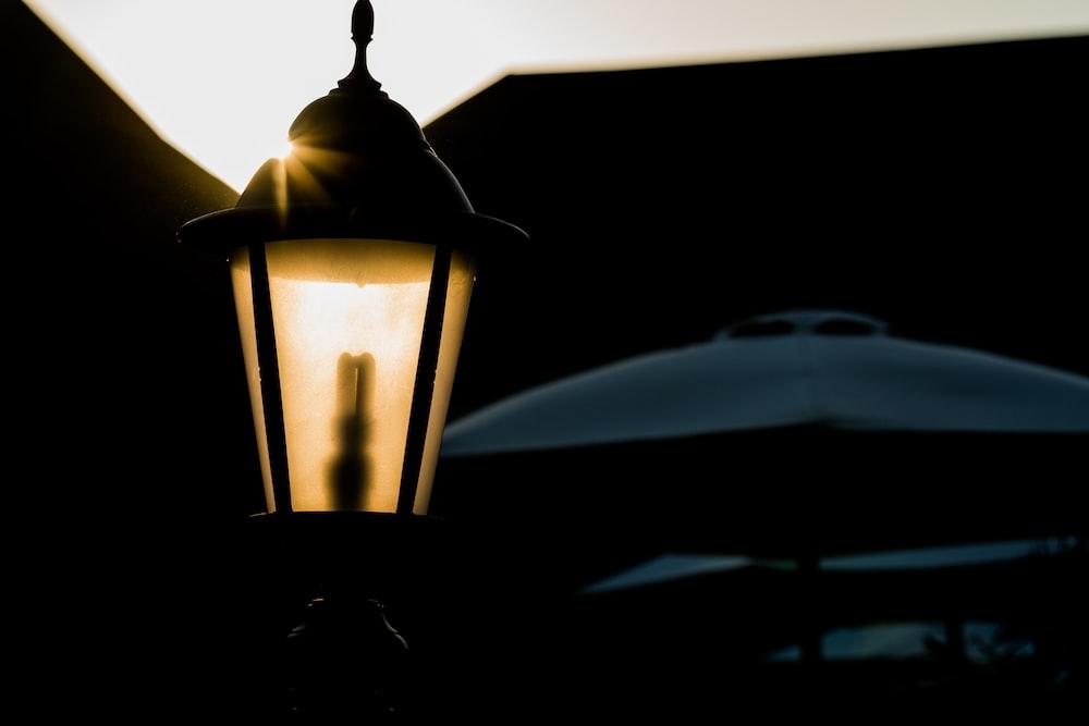black sconce lamp