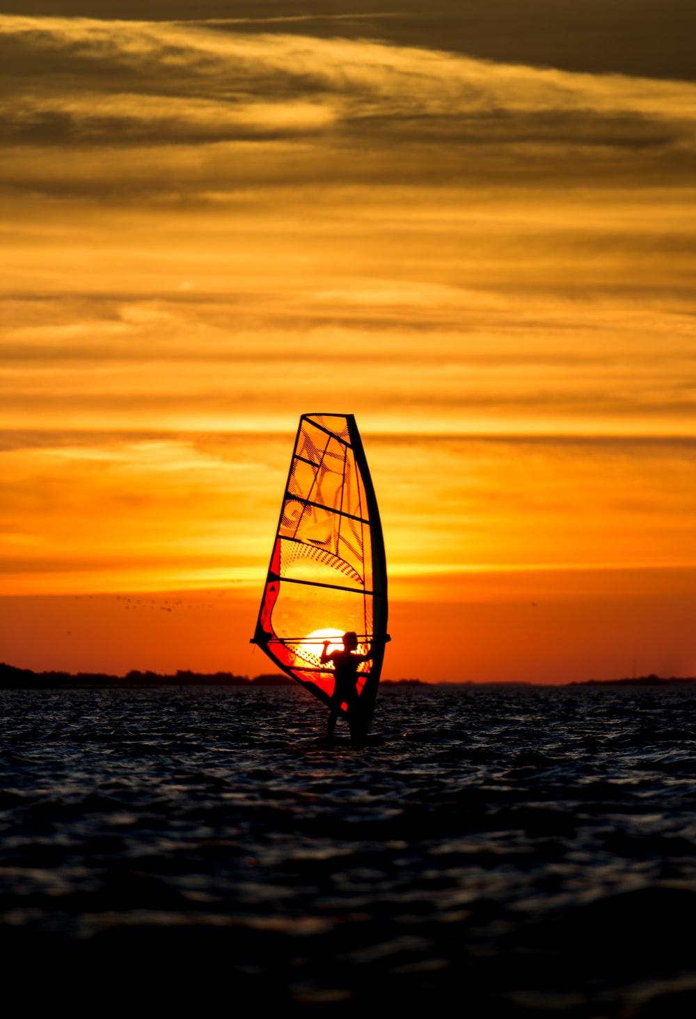 person parasailing
