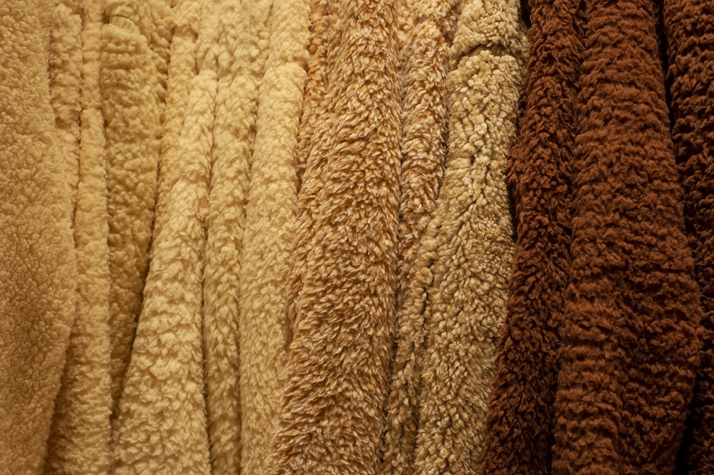 brown and beige cloth
