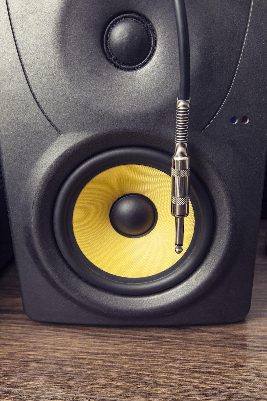 black and yellow speaker
