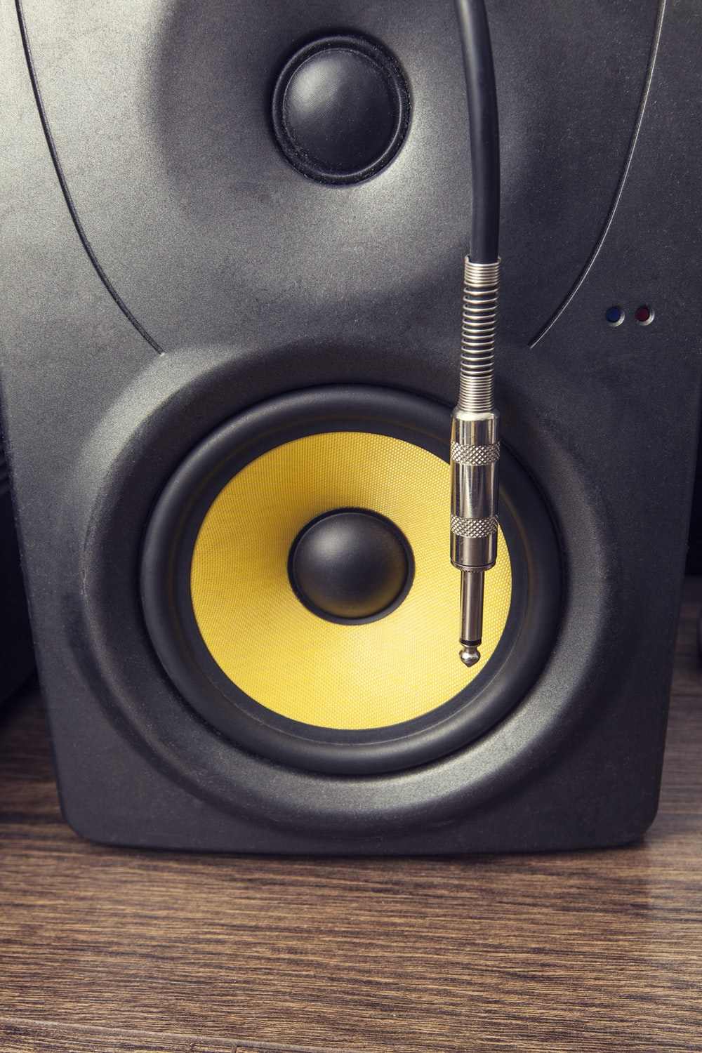 black and yellow speaker