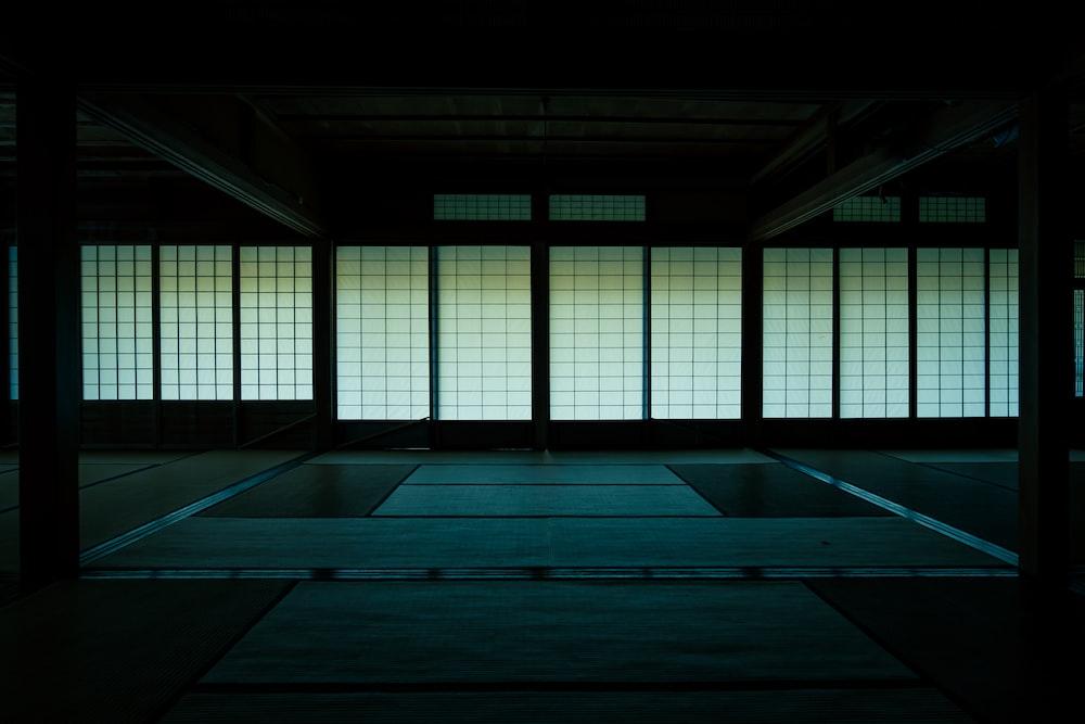 empty dim room
