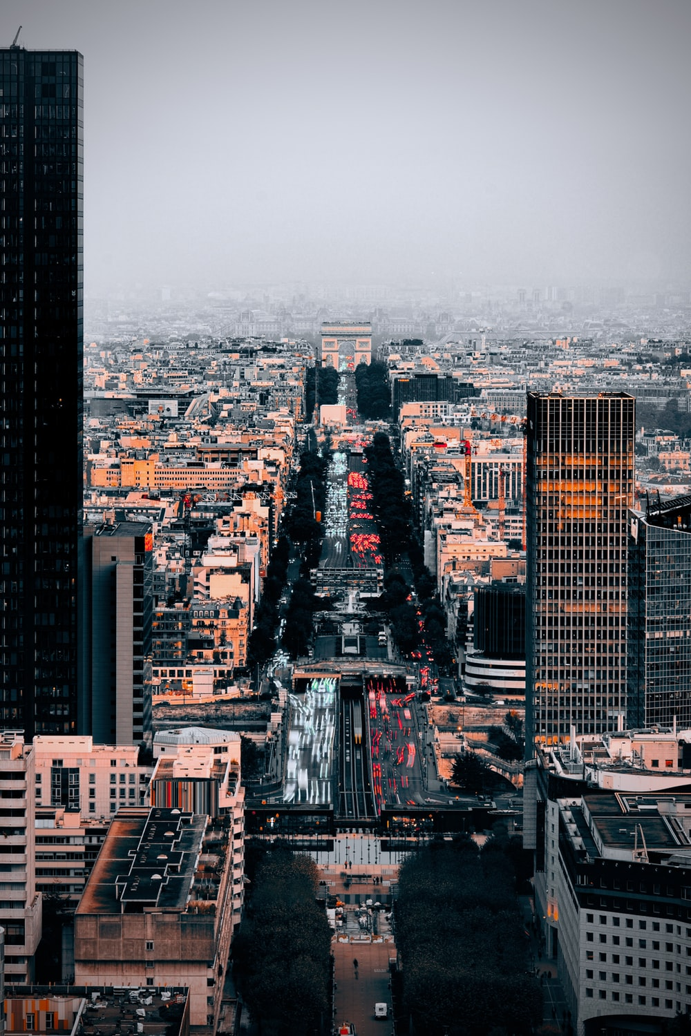 bird's eye view photography of high-rise buildings