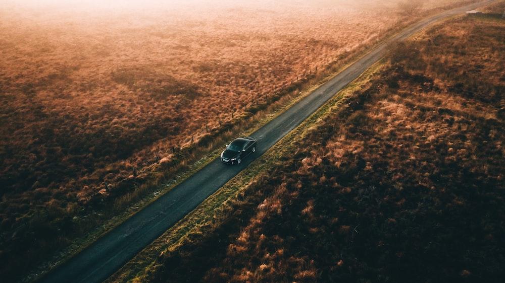 vehicle on paved road