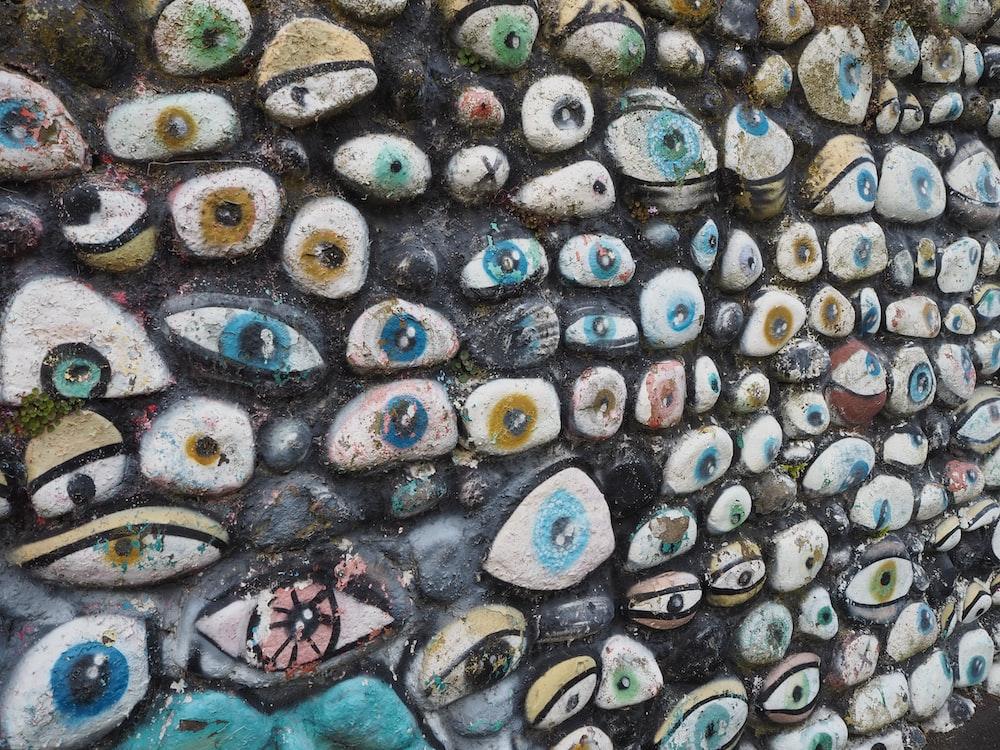 eye stone wall decor