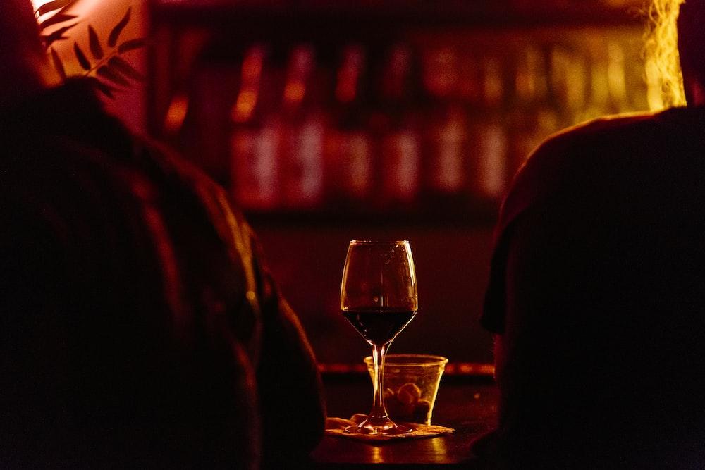 near empty wineglass