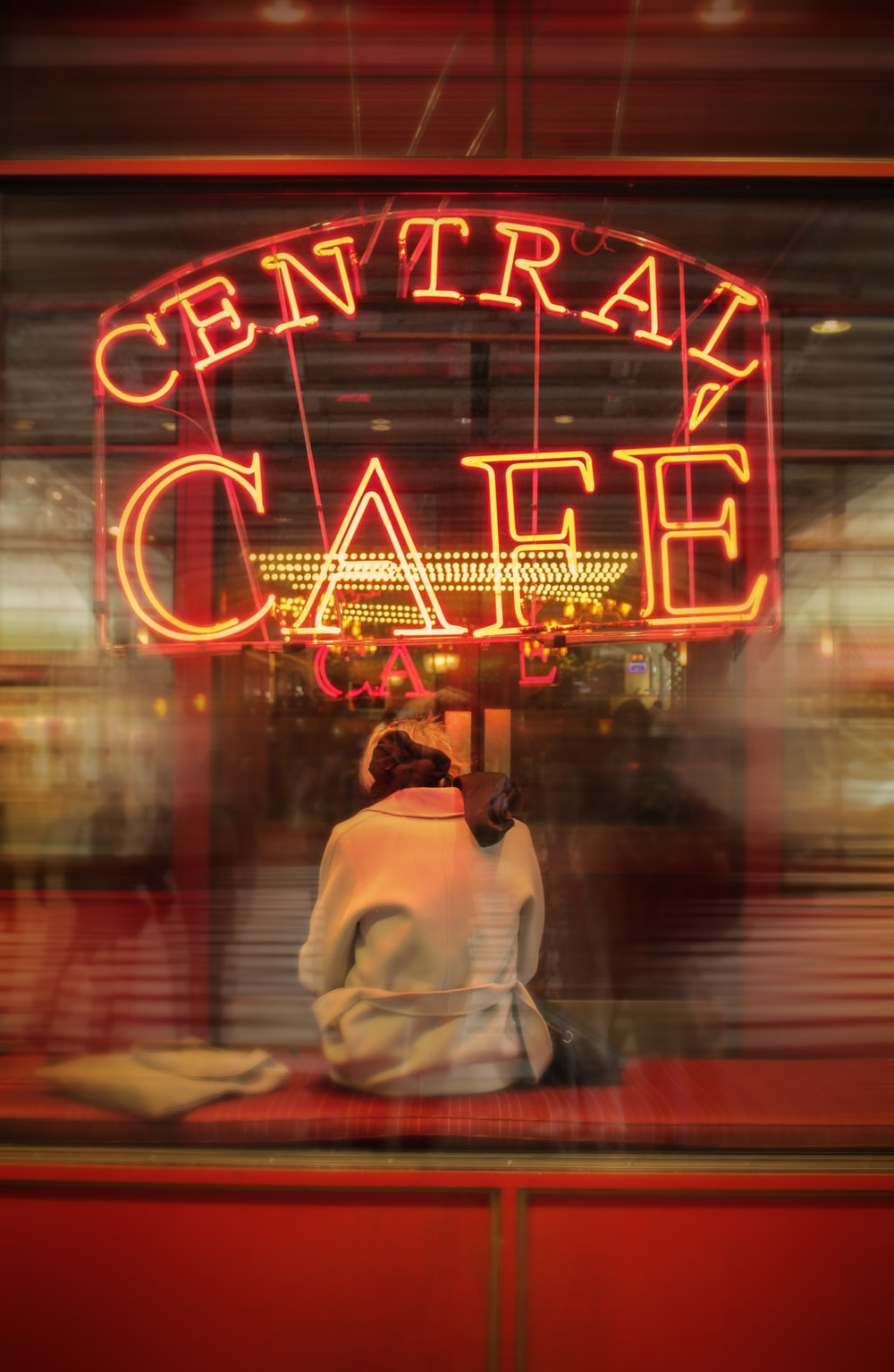 Central Cafe neon sign