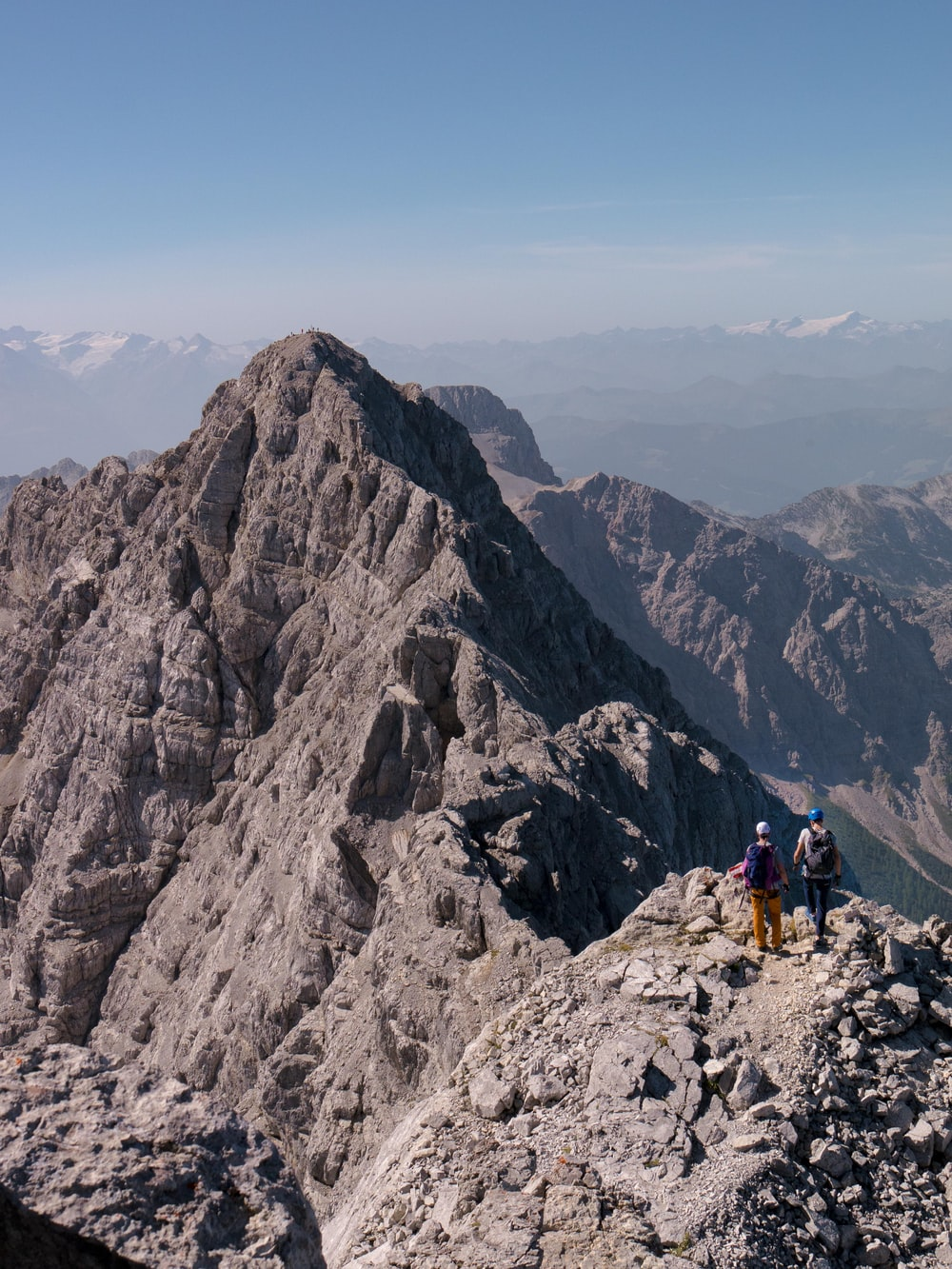 men on mountain