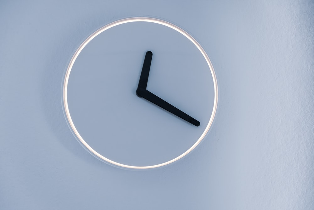 analog clock on a wall