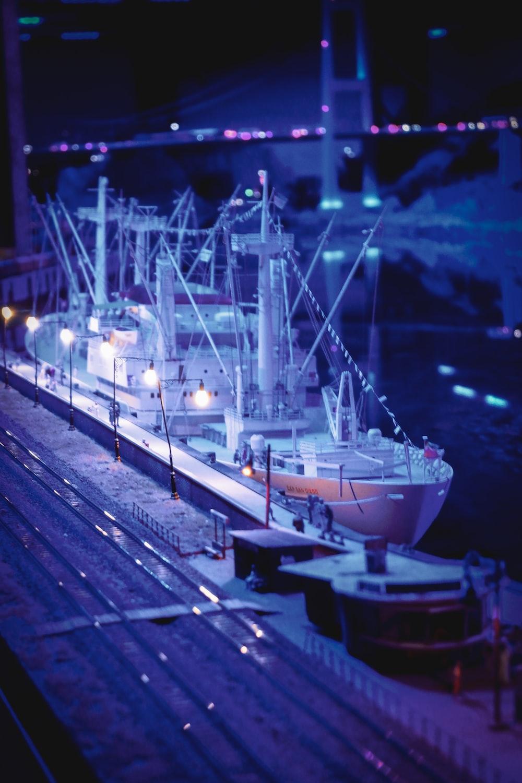 white cruiser ship
