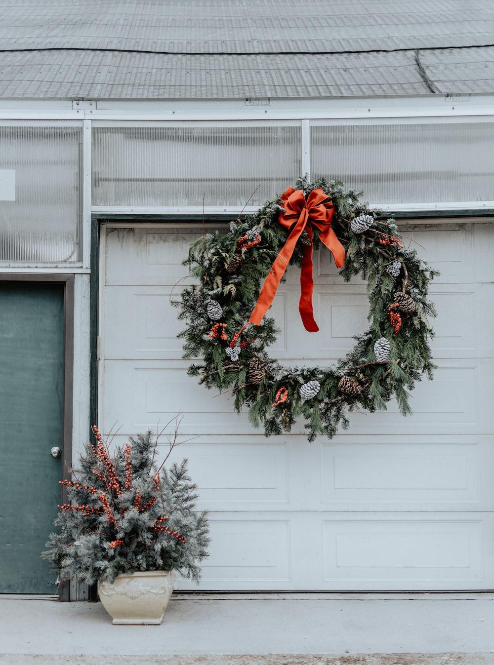 green door wreath