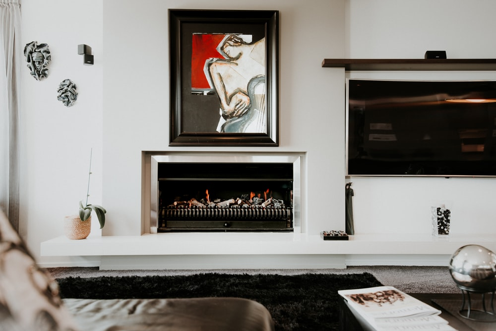 painting over fireplace