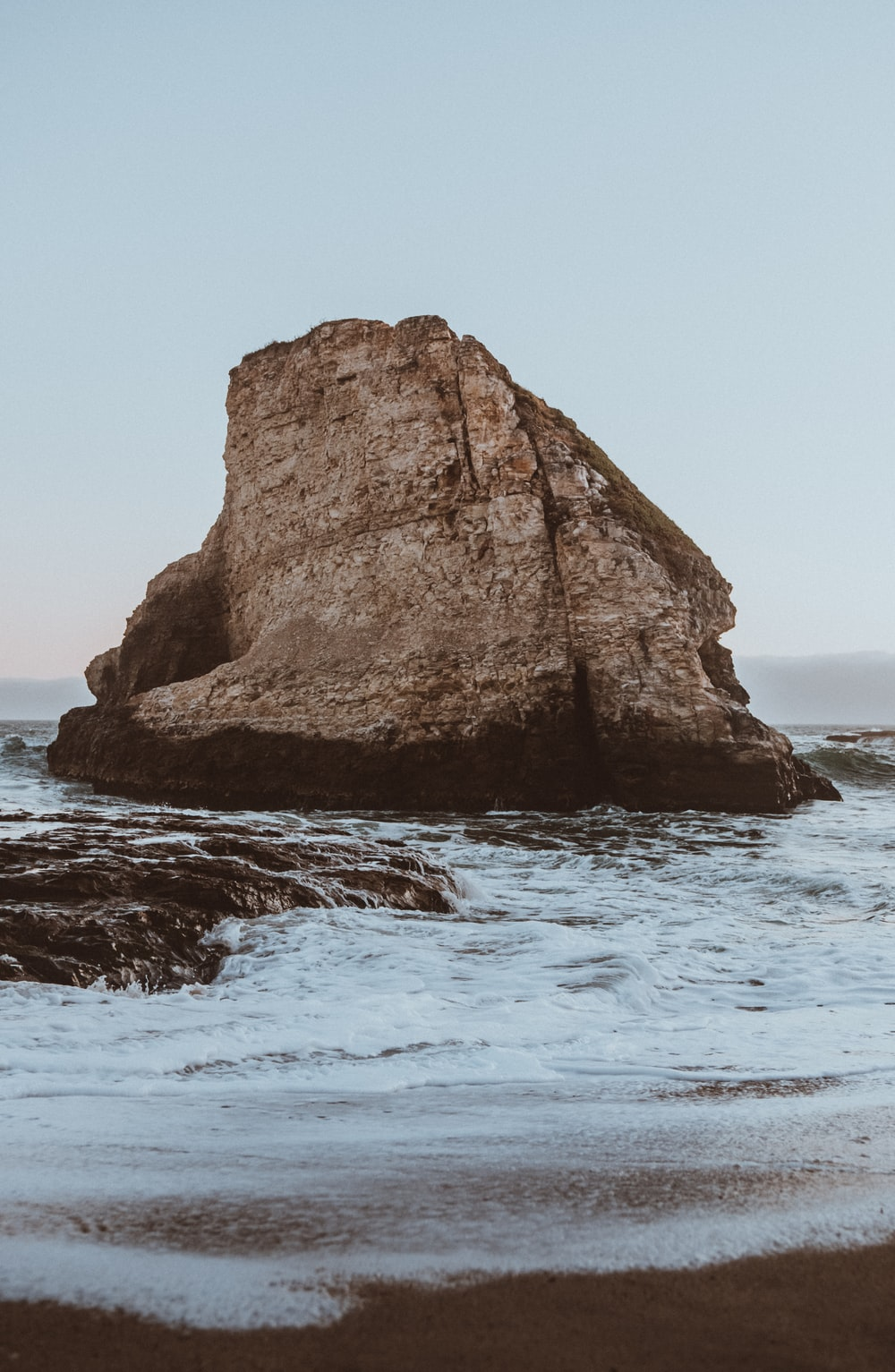 rock formations on sea