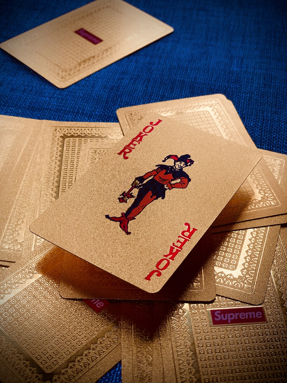 beige Joker playing card lot