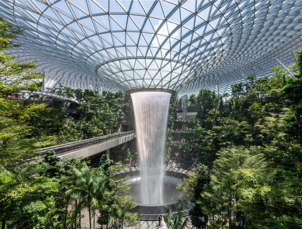 indoor fountain photograph