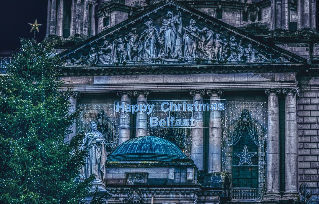Belfast City Hall lit up for its annual Christmas Market