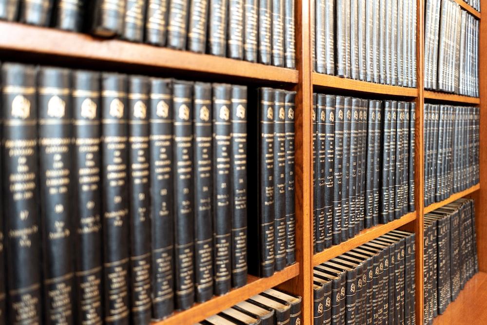 black book on shelf