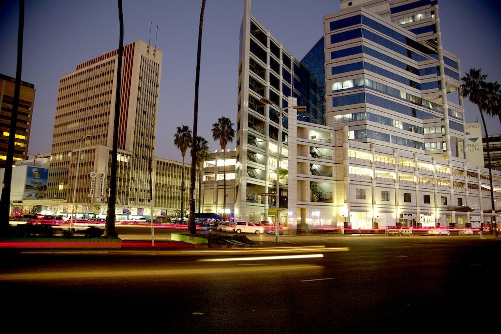 beige city building
