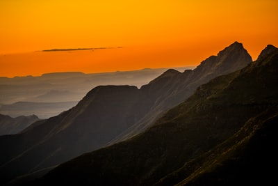 silhouette of mountain lesotho teams background