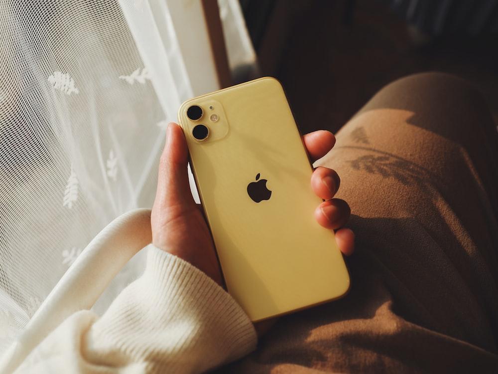 yellow iPhone 11 Max