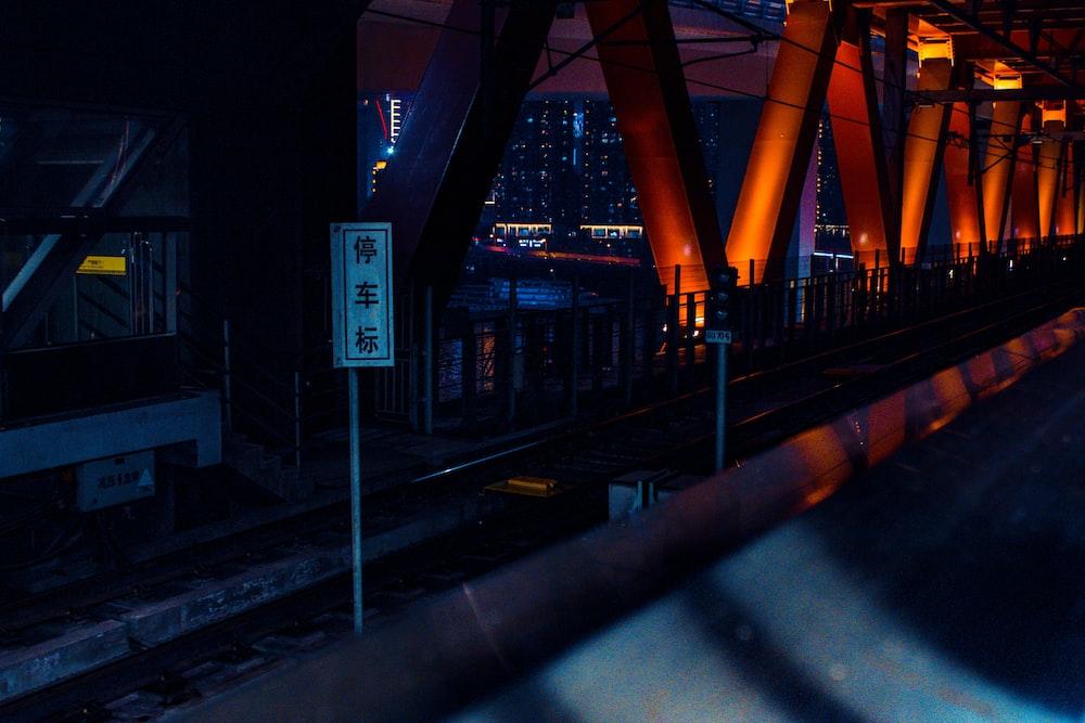bridge during night