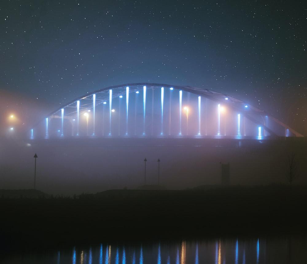 lighted bridge during daytime