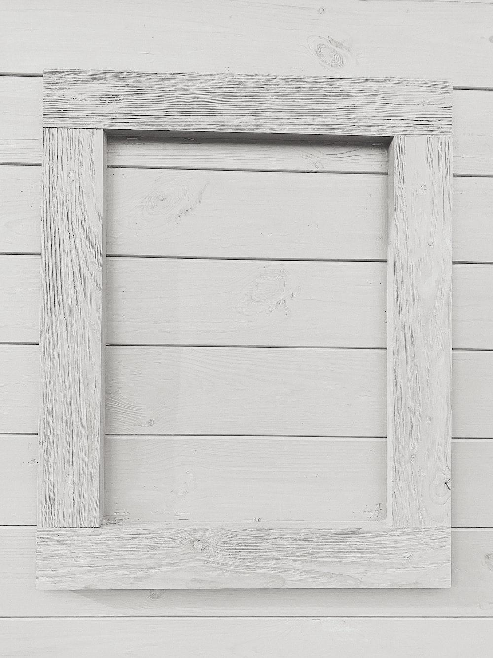 rectangular white frame on white surface