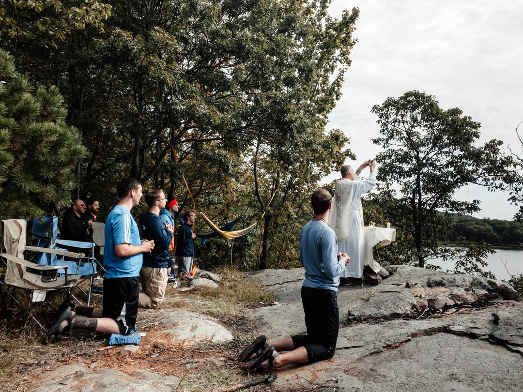 Mass in the mountains. To the heights.