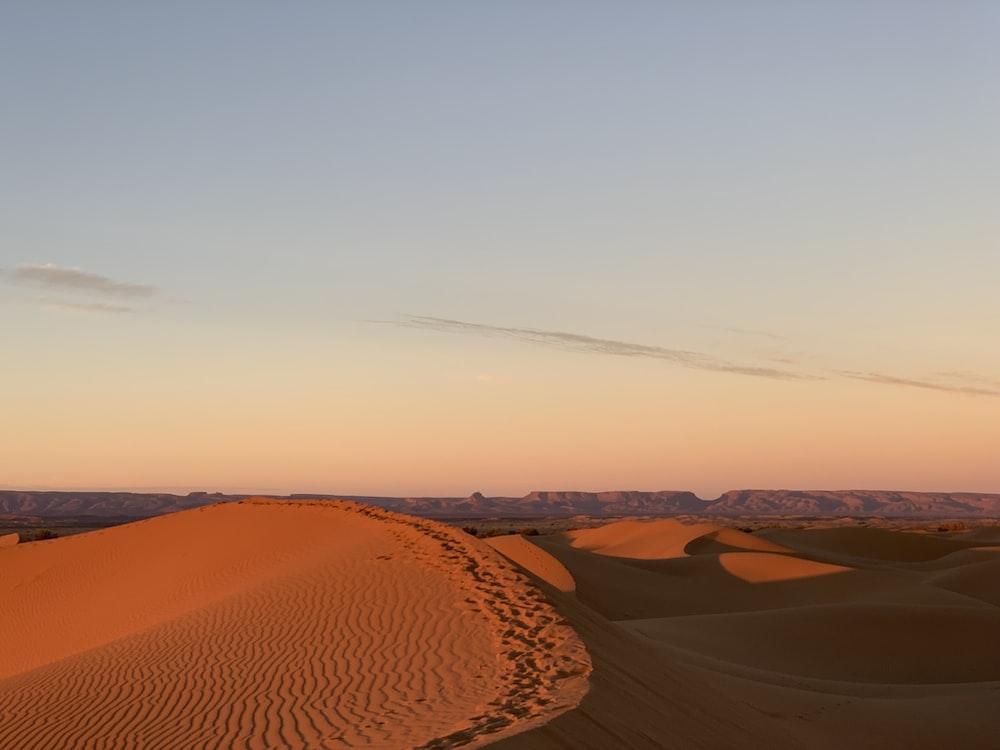 desert under blue