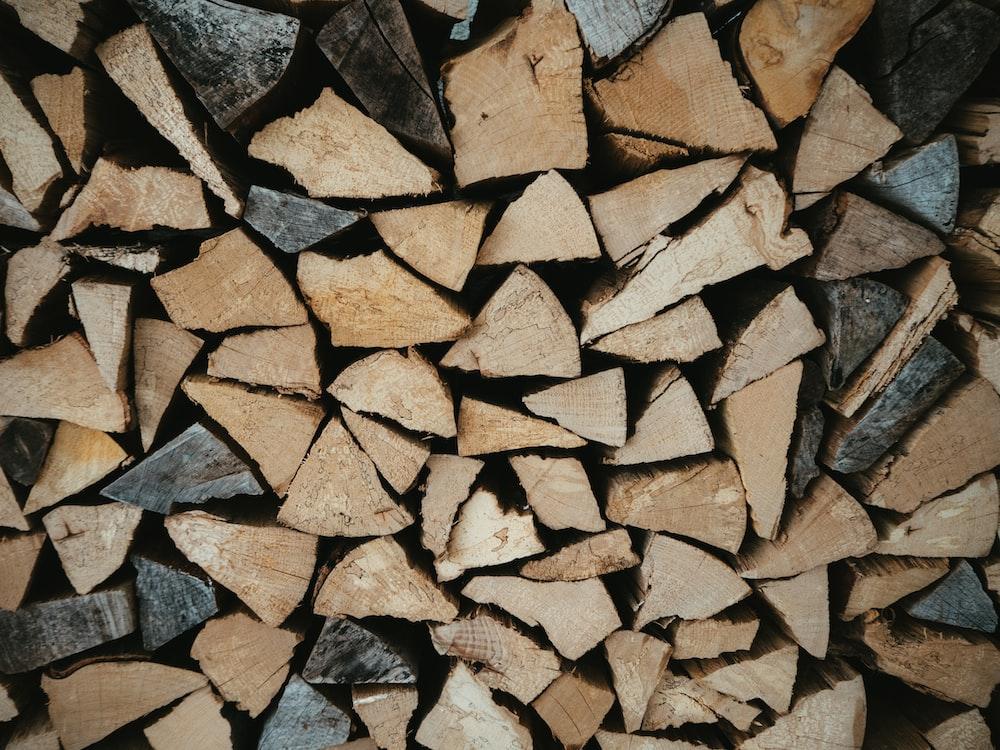 brown firewood