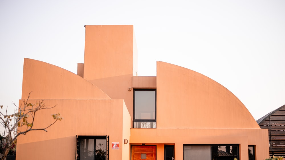 beige painted house