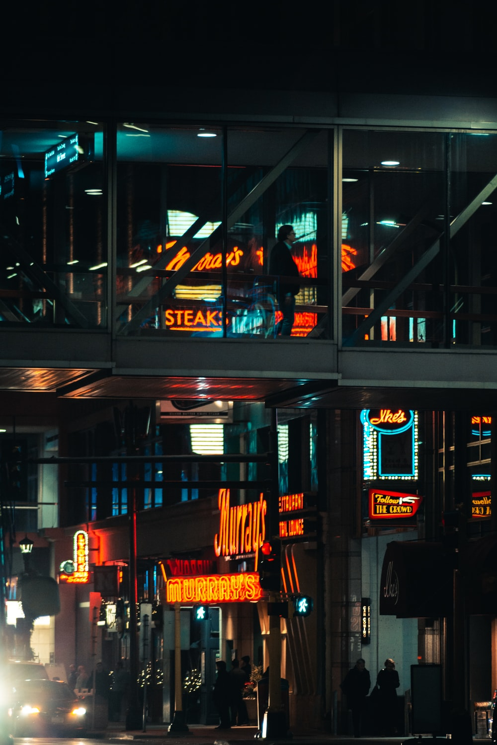 food store during night