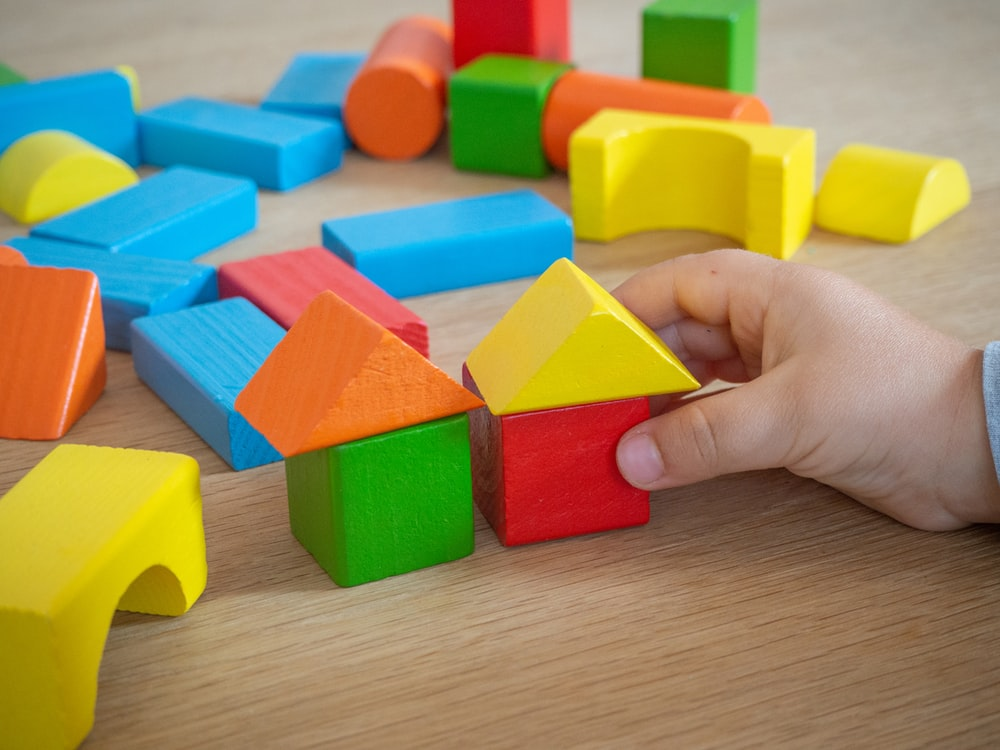 assorted-color wooden blocks